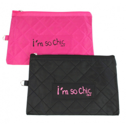 Trousse de toilette I'm so chic rose ou noir ID 478