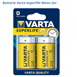 Pack de 2 piles Varta Superlife R20 Mono D ID 483