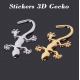 Stickers Gécko 3D ID 418