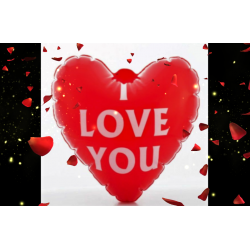 """Cœur gonflable """"I LOVE YOU""""  ID 523"""