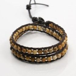 Bracelet double tours multi perles