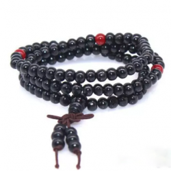 Bracelet Santal naturel perles Mala 3 tours