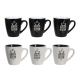 Ensemble de 6 tasses Black&White ID 621
