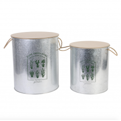 "X2 coffres de rangements Baril ""HOME GREEN HOME"" ID 693"