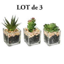 Lot de 3 plantes artificielles en pot ID 765