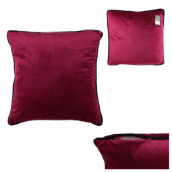 Coussin velours rouge 45 x 45 cm ID 996