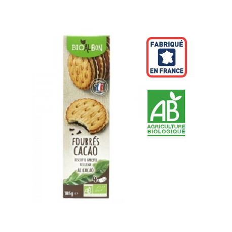 Biscuits fourrés cacao BIO France 181grs ID 1060