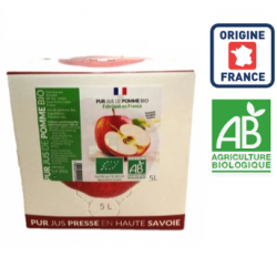 Pur jus Pomme trouble BIO France 5 L ID 1092