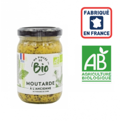 Moutarde à l'ancienne BIO France 200grs ID 1099
