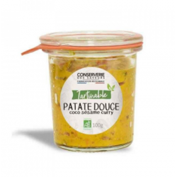 Tartinade Patate douce coco sésame curry BIO 100g ID 1602