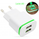Chargeur lumineux 2 ports USB *208